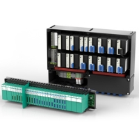 Remote I/O systems are used for signal transmission to PROFIBUS DP.