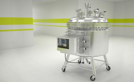 Portable mixing tanks in pharmaceutical plant