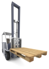 Detecting the pallet ensures that the fork is located far enough below the pallet before the lift is released