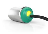 现代化设计:带有清晰可见 LED 的绿色后盖