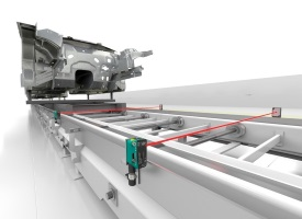 Skid Control in Automotive Bodyshell Construction with Photoelectric Sensors