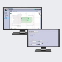 PACTware software allows quick configuration of the detection fields.
