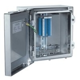 Terminal+Junction Boxes Ex e / Ex ia in Stainless Steel with Gland Plates, Hinged Lid, Return Flange