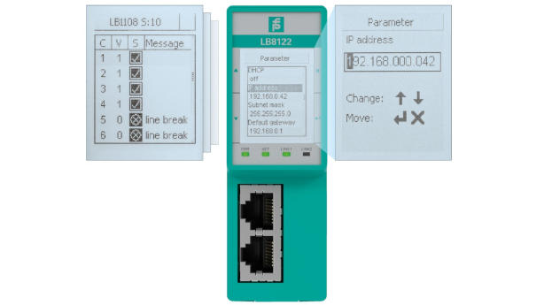 Profinet Gateway Adjustable Display