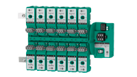 Segment Protector with surge protectors. Integrated diagnostics indicate end of useful life in the control room eliminating routine maintenance checks.