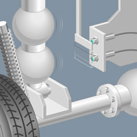 Inductive Sensors Detect Kneeler Position