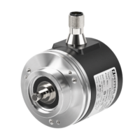 The IO-Link rotary encoder can be operated at up to 12,000 revolutions per minute