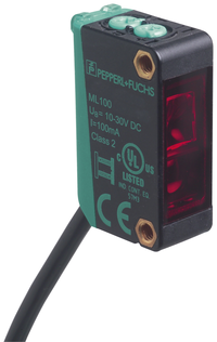 Compact ML100-8-HW photoelectric sensor with background evaluation