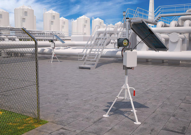Portable gas monitoring at chemical plant