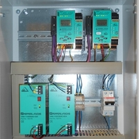 AS-Interface master monitors and power supplies assembled in a cabinet for JOTUN
