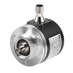 IO-Link rotary encoder with solid shaft