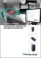 Product Overview Photoelectric Sensors for Automation Technology