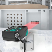 With its compact design, the VB14NT barcode scanner can be used in limited spaces.