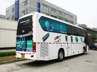 Mobile exhibit bus for factory automation products in China