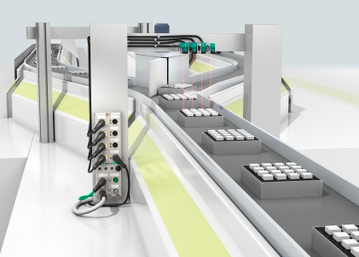 Ethernet IO modules with IO-Link master for use in conveyor technology