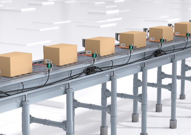 Conveyor technology in material handling.